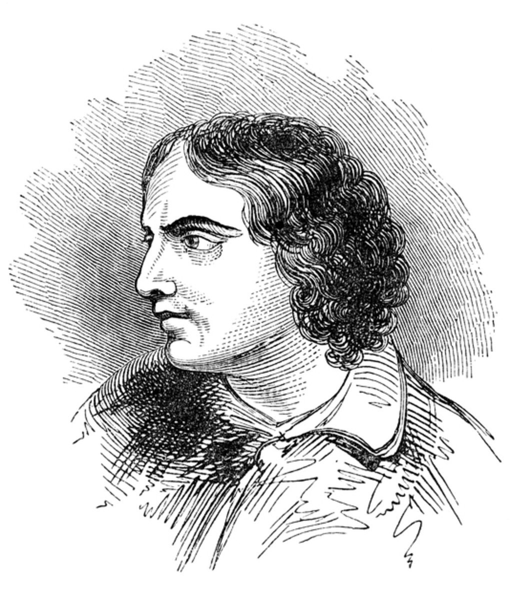 A black and white pencil sketch of the poet, John Keats, who succumbed to tuberculosis in 1821.