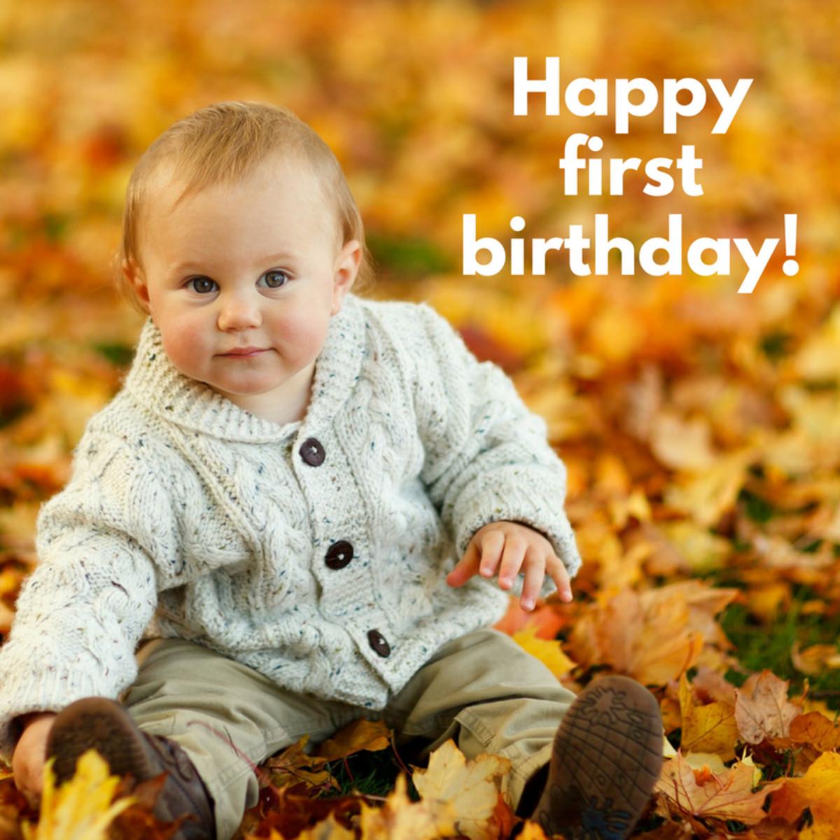 50 first birthday wishes