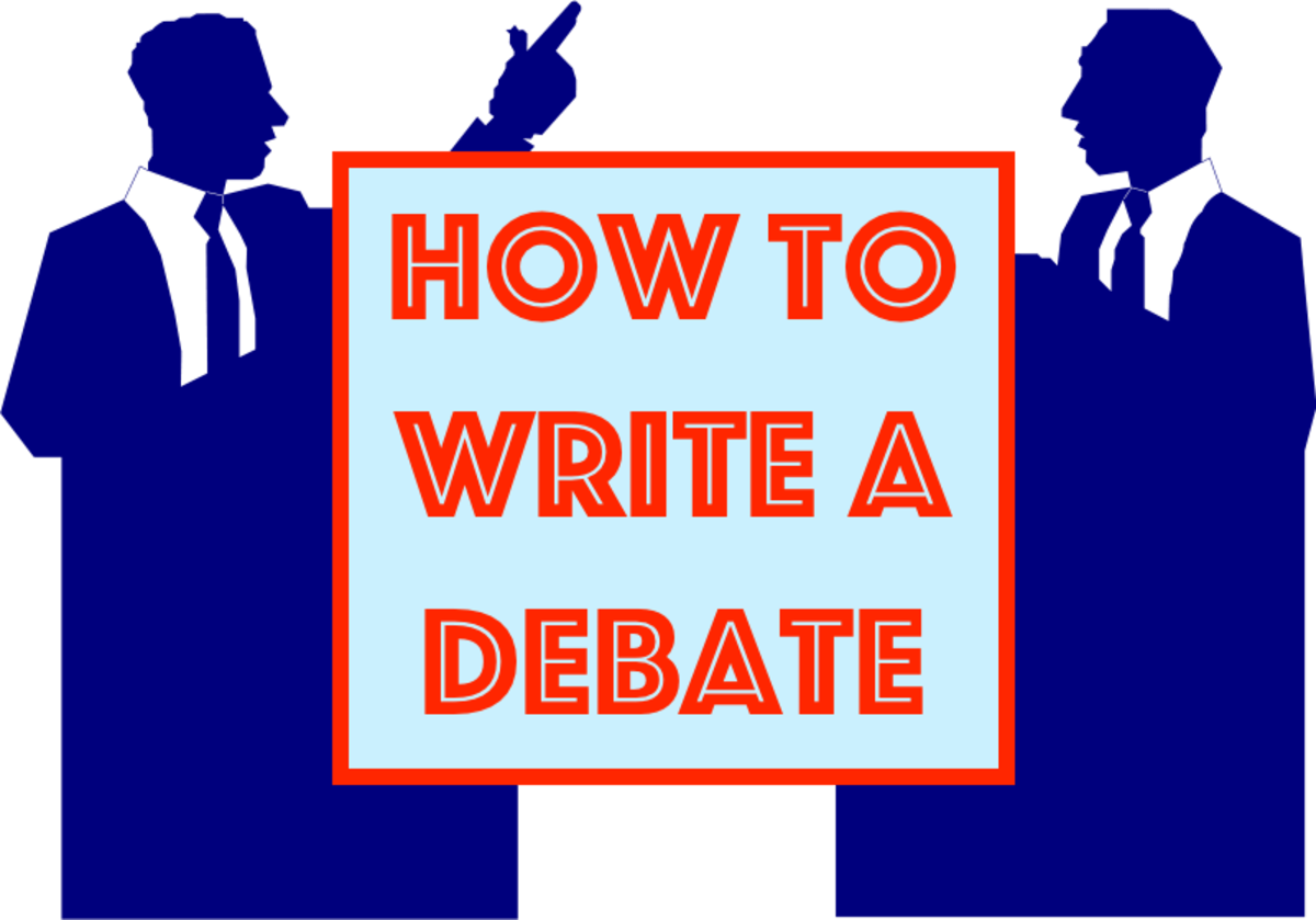 How To Write A Debate Owlcation