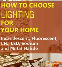 how to choose home lighting led fluorescent incandescent cfl sodium and metal halide [ 1024 x 1208 Pixel ]