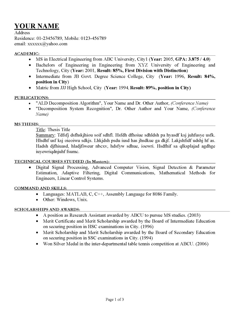 How To Write A Detailed Resume How To Write A Good Cv Toughnickel