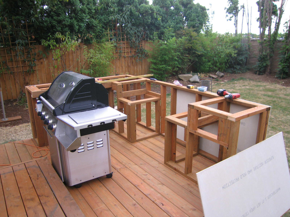 outdoor kitchen frame zephyr building bbq having fun and saving