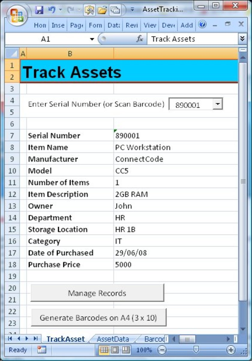 Barcode Assets Tracking – Track Assets for Home Inventory and Small ...