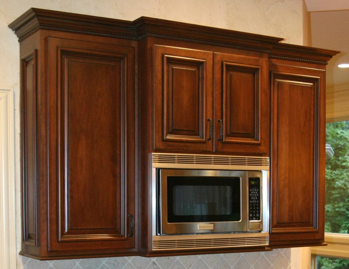 Corner Kitchen Cabinet Dimensions Seven Different Microwave Design Ideas | Dengarden