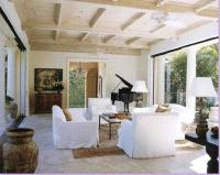 Home Remodeling Improvement Ideas with Wood Ceiling Beams ...