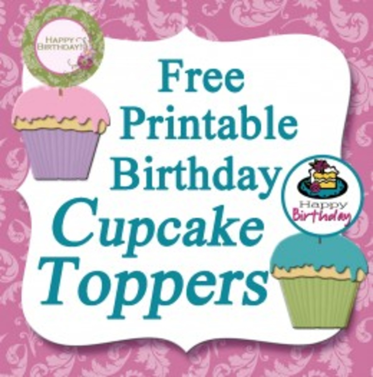 Free Printable Cupcake Toppers Hubpages