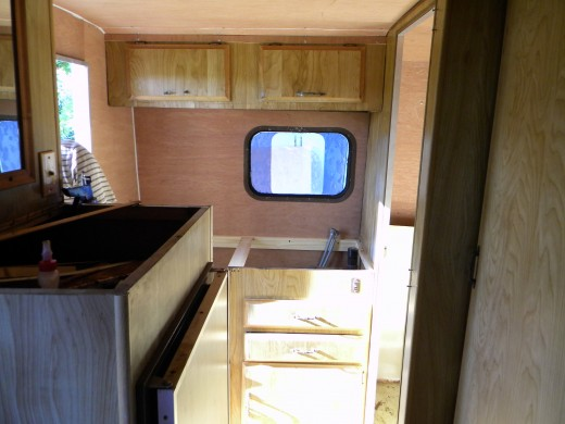 home depot kitchen cabinets prices designer online how i repaired, remodeled, and restored an old rv camper ...