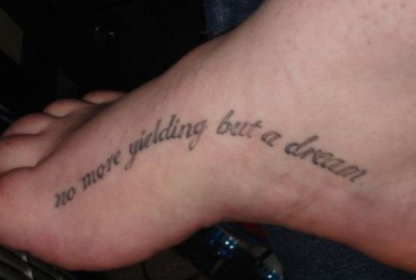 20 Dream Hope Believe Tattoos Foot Ideas And Designs