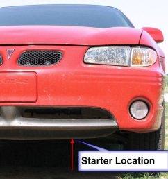 starter removal 1999 pontiac grand prix [ 1024 x 1046 Pixel ]