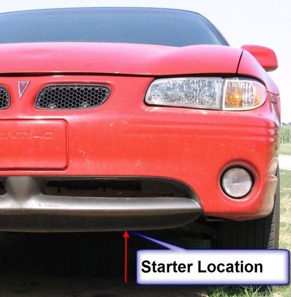 medium resolution of starter removal 1999 pontiac grand prix