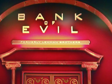 Image result for evil bank