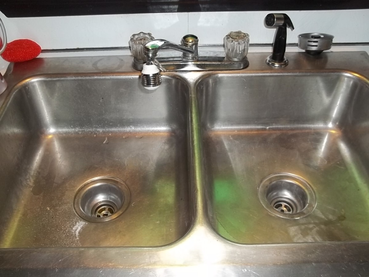 kitchen sink without cabinet flush lighting how to unclog a double drain dengarden