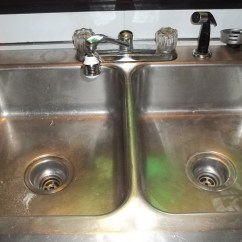 Kitchen Sink Drain Two Tier Drawer Organizer How To Unclog A Double Dengarden My