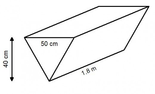 Volumes of triangular shaped prisms. How to work out the