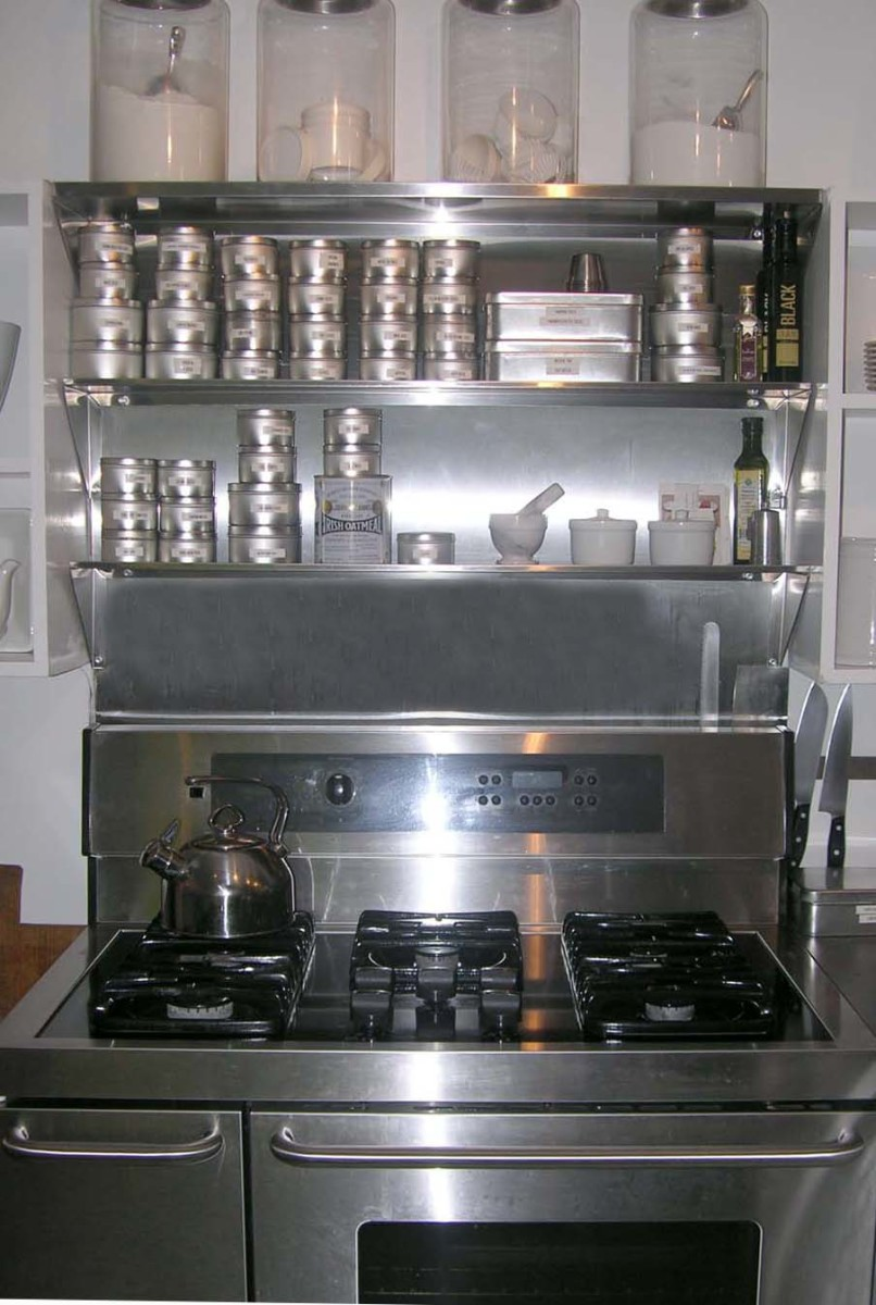 Using OverTheRange Stainless Steel Shelves To Store Your