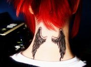 gothic tattoos with wing design