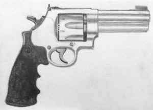 gun drawing draw guns pencil tutorial