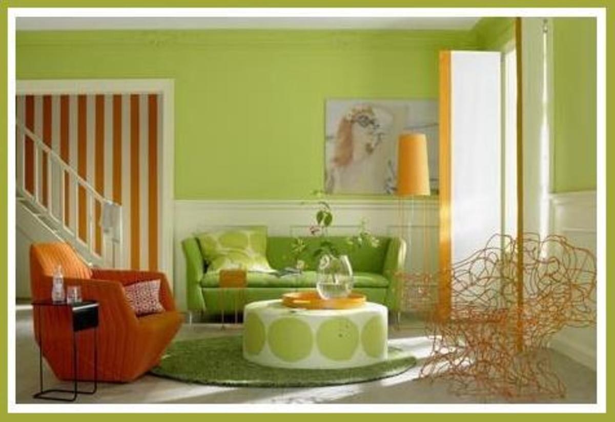 lime green living room decorations chair ottoman diy decorating ideas for apple and yellow rooms coral orange melts together to form a perfect