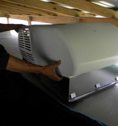 how to replace or install an rv or travel trailer rooftop air conditioner [ 1024 x 768 Pixel ]