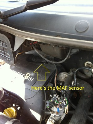 How to Clean  Change MAF Sensor on Trafic, Vivaro