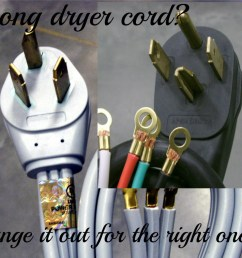 changing a 3 prong to 4 prong dryer cord and plug dengarden dryer plug wiring 3 prong 3 prong dryer wiring diagram [ 1024 x 791 Pixel ]