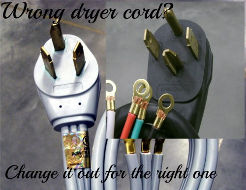small resolution of changing a 3 prong to 4 prong dryer cord and plug dengarden dryer plug wiring 3 prong 3 prong dryer wiring diagram