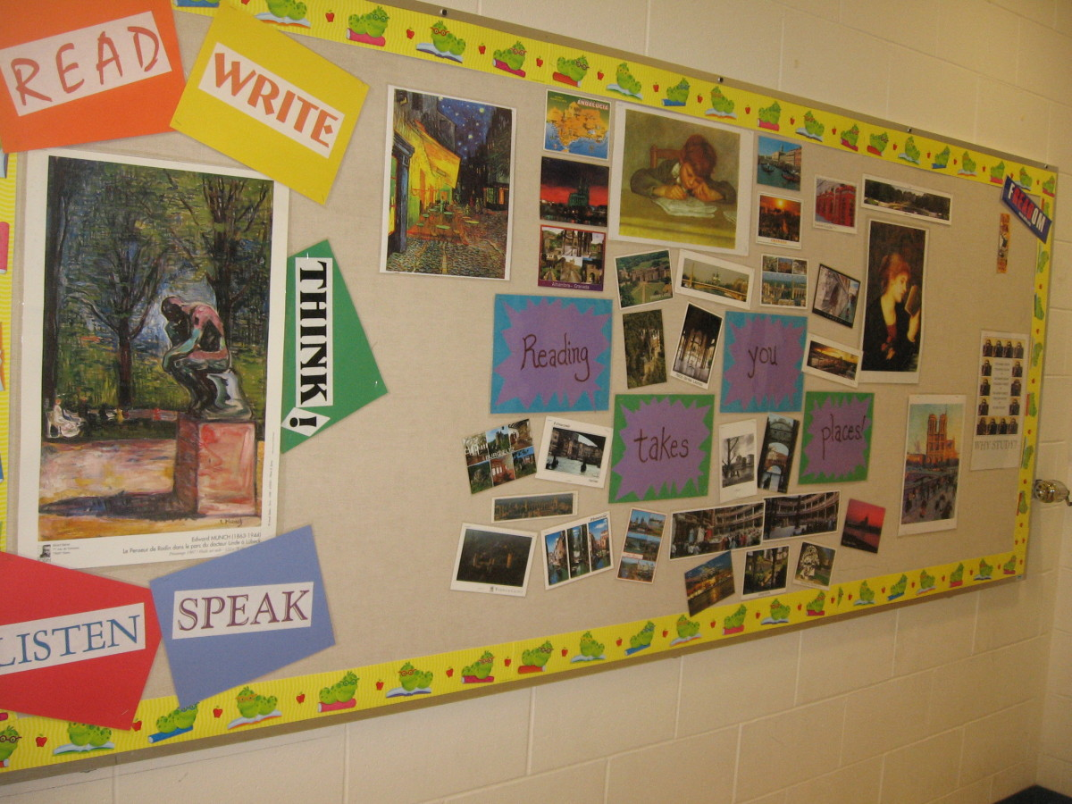 Bulletin Boards And Wall Decor For High School English