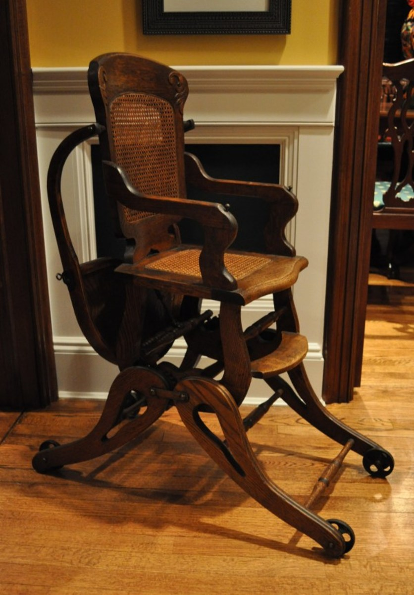 antique high chairs kitchen at big lots grandpa s chair how to refinish and update an dengarden this pristine features all original parts including the wheels caning