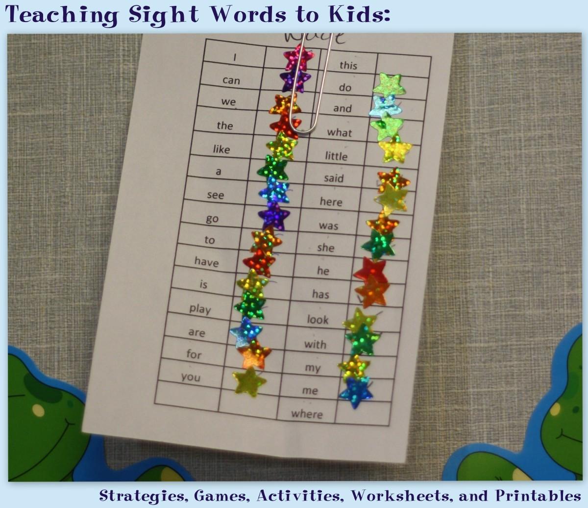 Teaching Sight Words To Kids Strategies Games