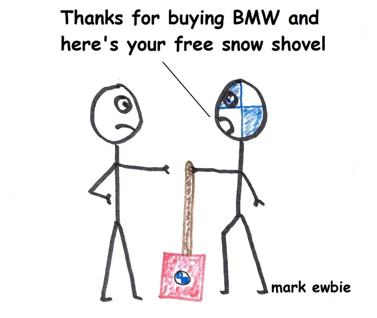 Driving a BMW Rear Wheel Drive in the Winter Snow and Ice
