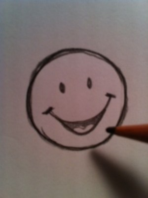 draw face happy smiley drawing simple step mouth peppa pig line tutorial hubpages