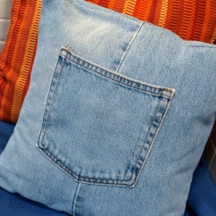 How To Recycle My Sofa Without Back Name Make A Throw Pillow Cover With Recycled Jeans