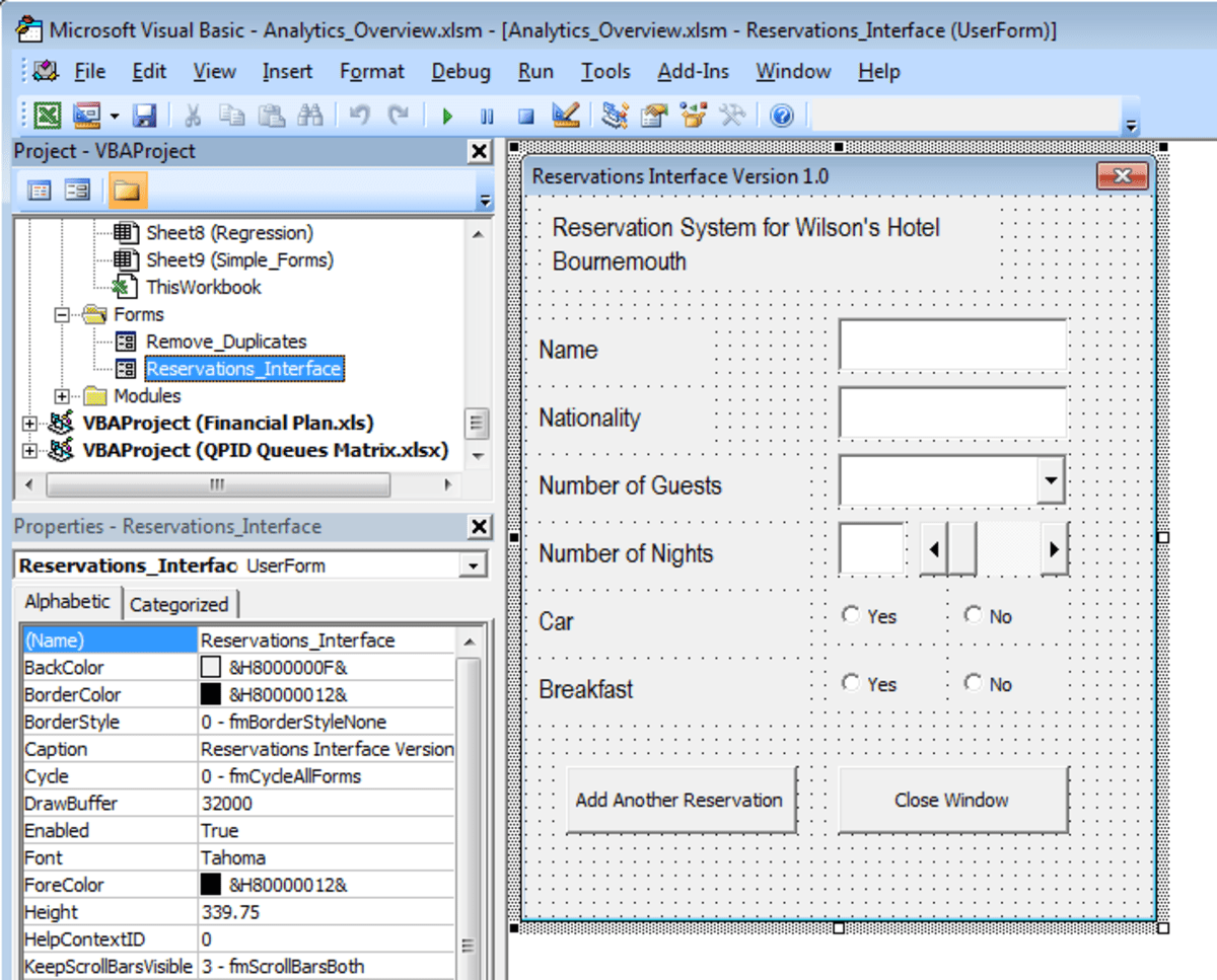 How To Write Visual Basic Code To Configure A User