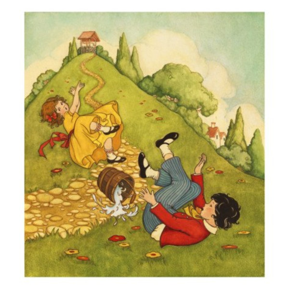 Curious Origins of Nursery Rhymes Jack and Jill  LetterPile
