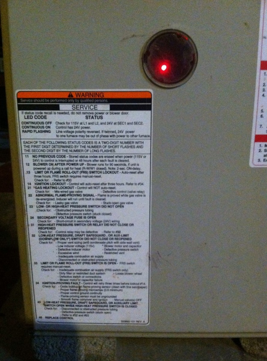York Rtu Schematic How To Diagnose Furnace Problems Amp Why Red Light Is