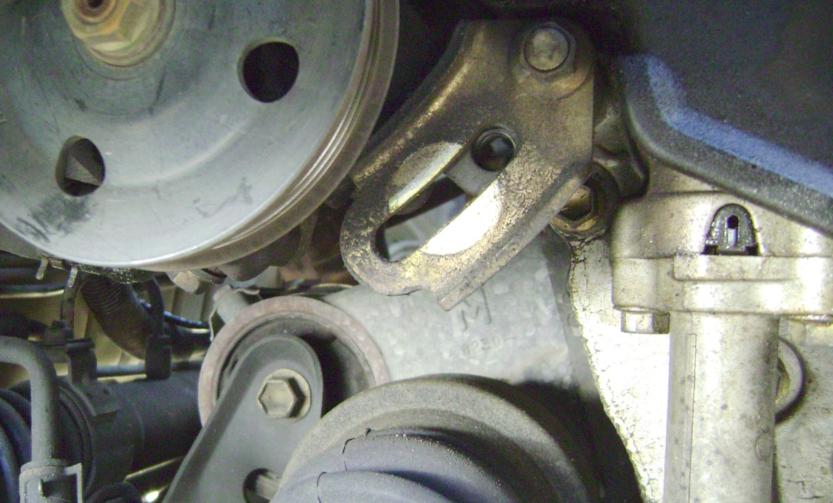 Toyota Camry A Diagram On The Power Steering Pumpmounts30 V6