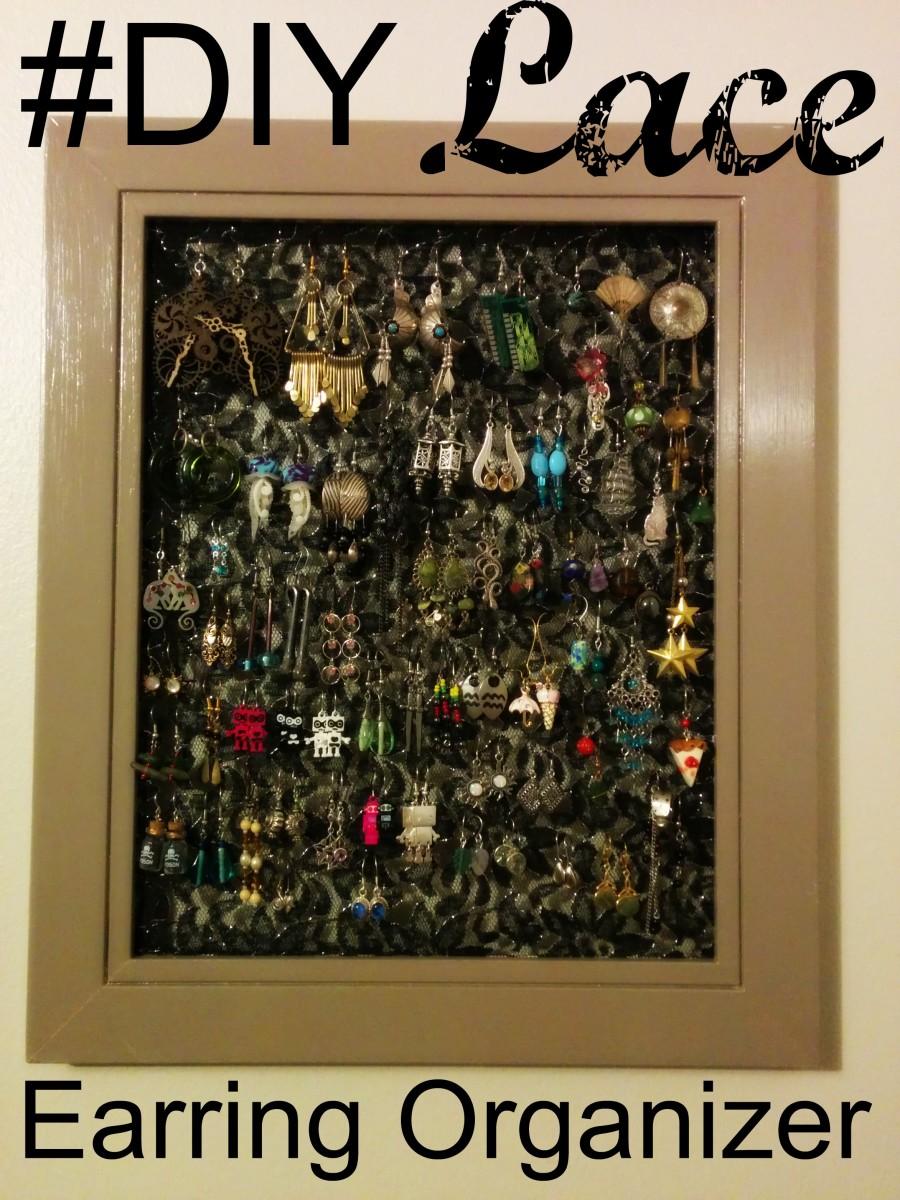 Make Your Own DIY Lace Earring Holder Dengarden