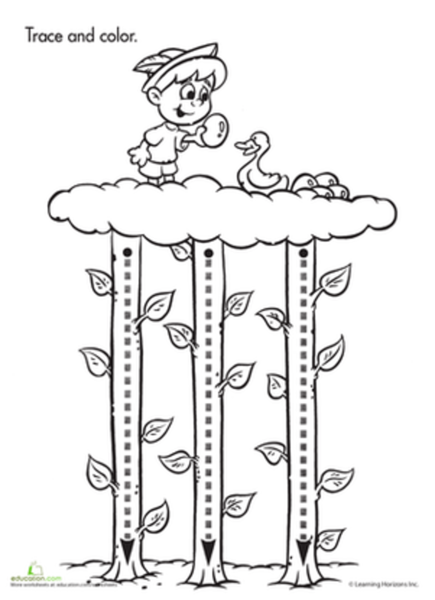 Jack and the Beanstalk Activities for Preschoolers and