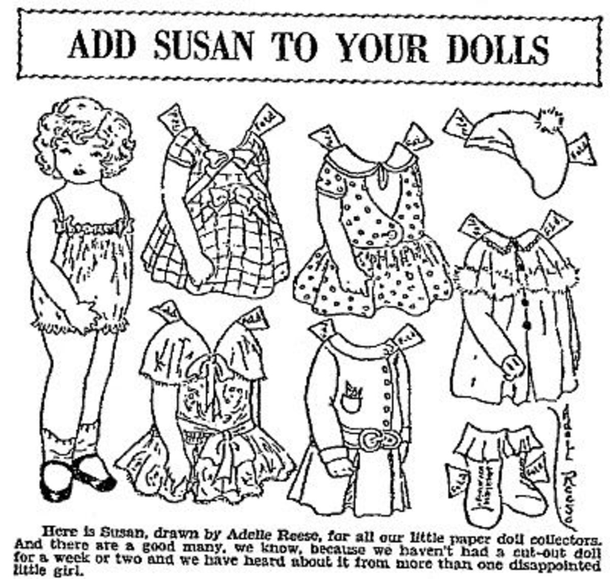 Printable Paper Dolls: Free Paper Dolls and Clothes for