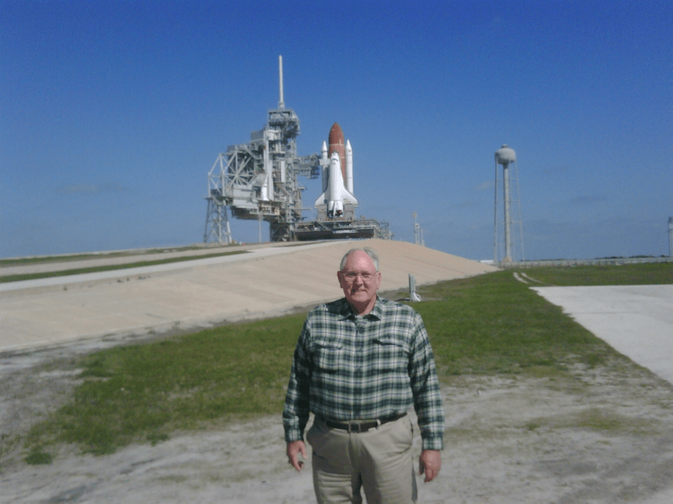 Jim at Complex 39A with STS-135 on the launch pad just a few days before it was launched and became the final Shuttle mission.