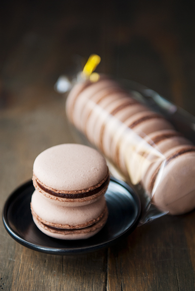 chocolate almond french macarons sucre cuit method