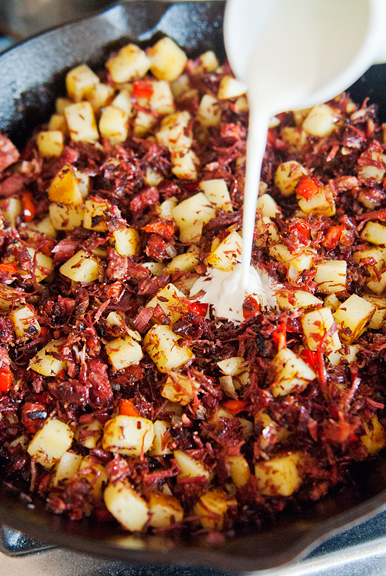 corned beef hash recipe | use real butter
