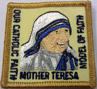 Saint Mother Teresa Catholic patch program for Girl Scouts