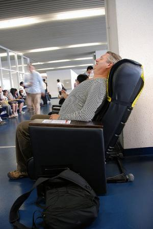 Massage chairs provide relief of low back pain and