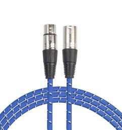 details about audio cannon cable 3 pin xlr male to female microphone studio connecting cable [ 1001 x 1001 Pixel ]