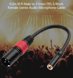 details about xlr 3 pin male to 3 5mm trs 1 8inch female stereo audio microphone cable wire [ 1001 x 1001 Pixel ]