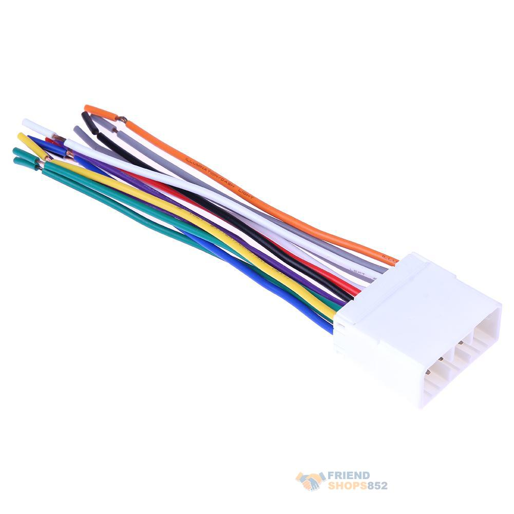 hight resolution of details about car stereo cd player radio wiring harness 14pin wire adapter plug for subaru