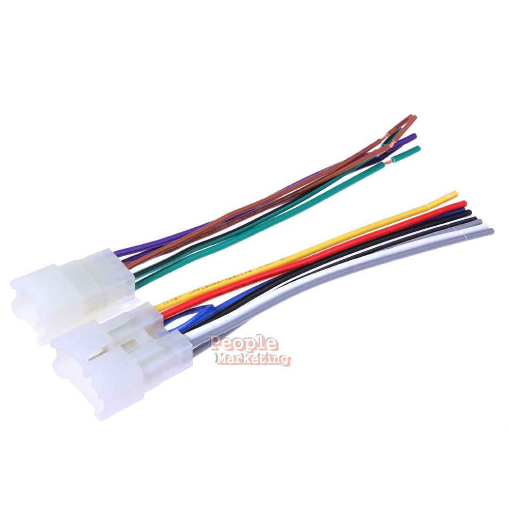 hight resolution of details about 2pcs car stereo cd player radio wiring harness wire adapter plugs for toyota