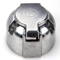 7 Pin N Type Trailer Plug Wiring Diagram Uk Real Heart Simple Car Caravan Lights Round Metal Socket