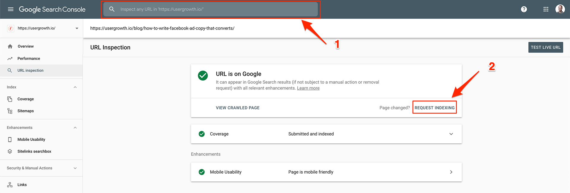 Let Google re-index your updated content